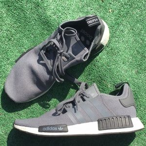 Adidas Ultra Boost Knit NMD R1 Gray Black Shoes 👟